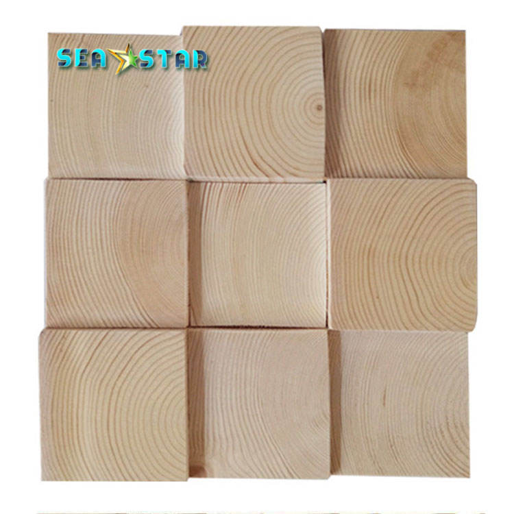 OEM factory price wall decoration Natural Solid Wood Board Pine Lumber 3d wall