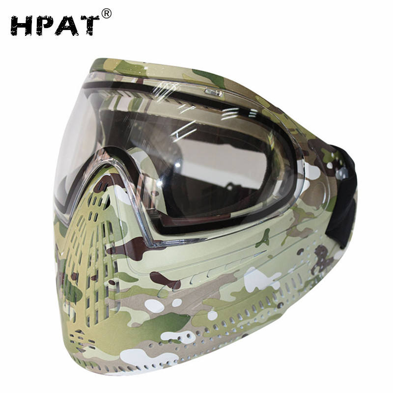 Camo Full Cover Paintball Maske Goggle mit Farbstoff I4 Thermische Objektiv