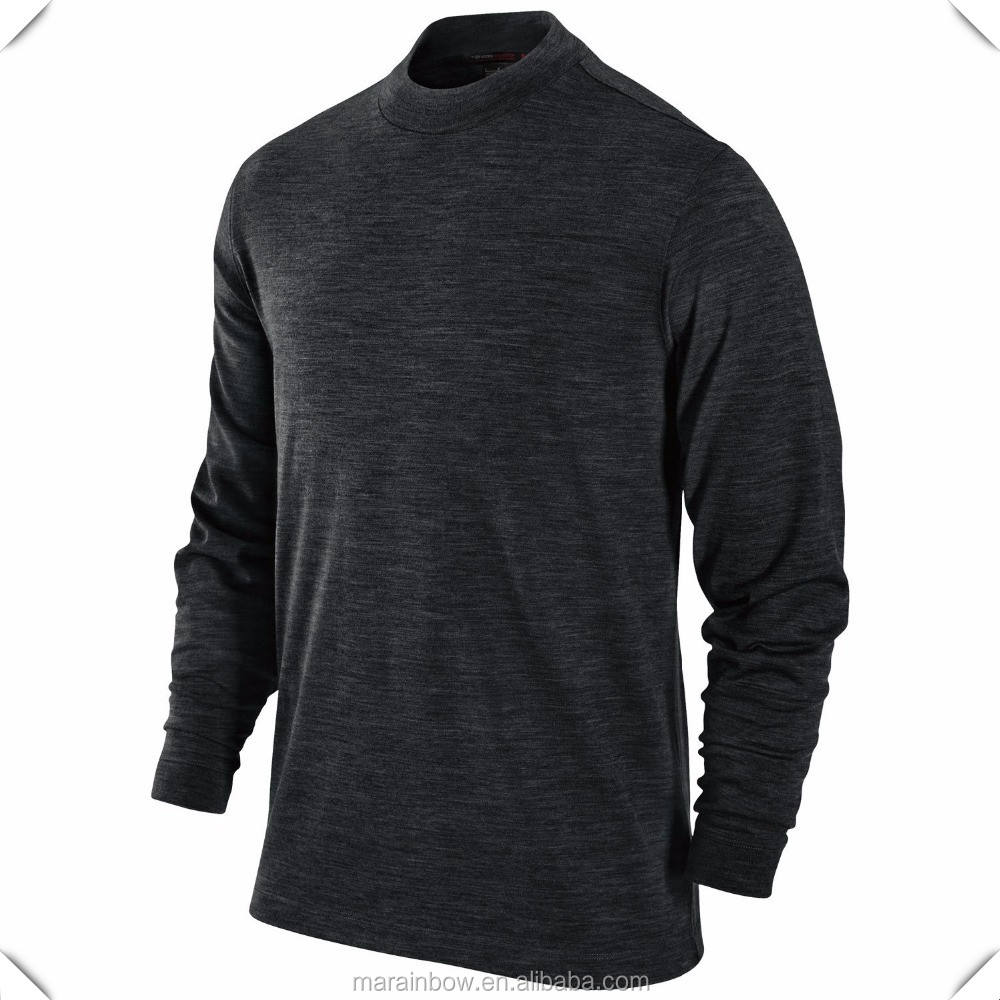 Bamboo Slub Cotton T Shirt Base Layer Shirt Tops Top Quality Black Plain Long Sleeve T Shirt for Men