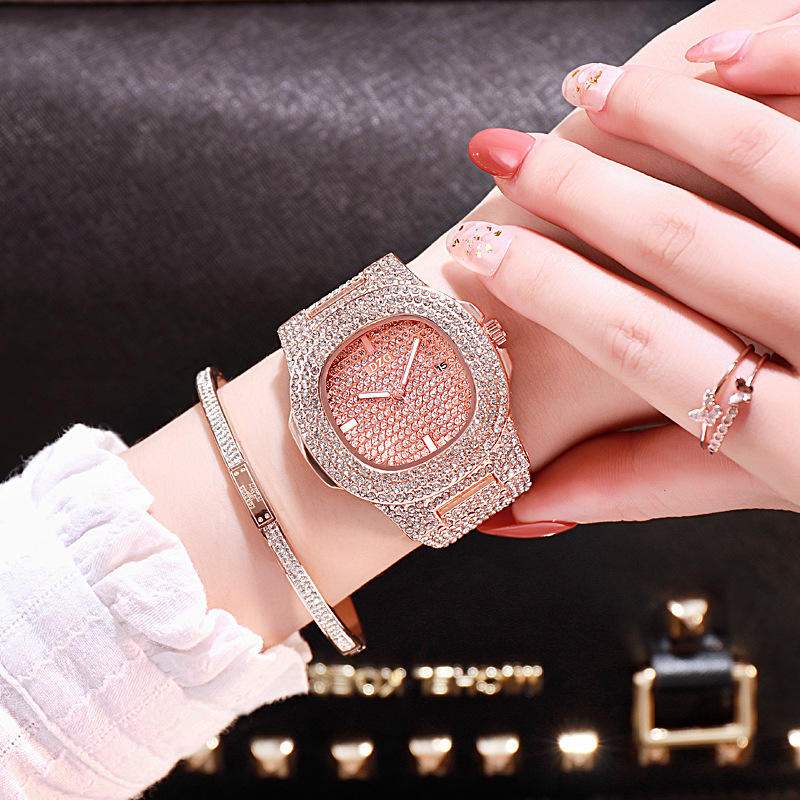 2019 Chinese Shenzhen wholesale fashion diamond band private label watch manufacturers square shape lady watches