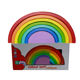 Montessori Wooden Rainbow Stacking Nesting Puzzle Blocks Stacker Learning Game family Building Blocks
