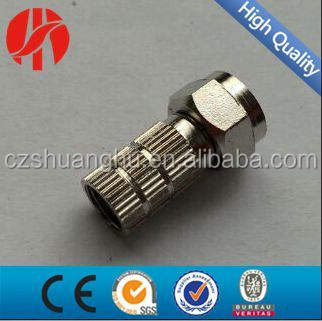 F connector/rg59/rg6 f male connector/f twist op connector