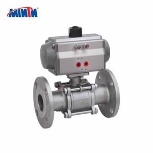 China Wenzhou Supply Pneumatic Stainless Steel Thread Connection 3-pcs Ball Valve