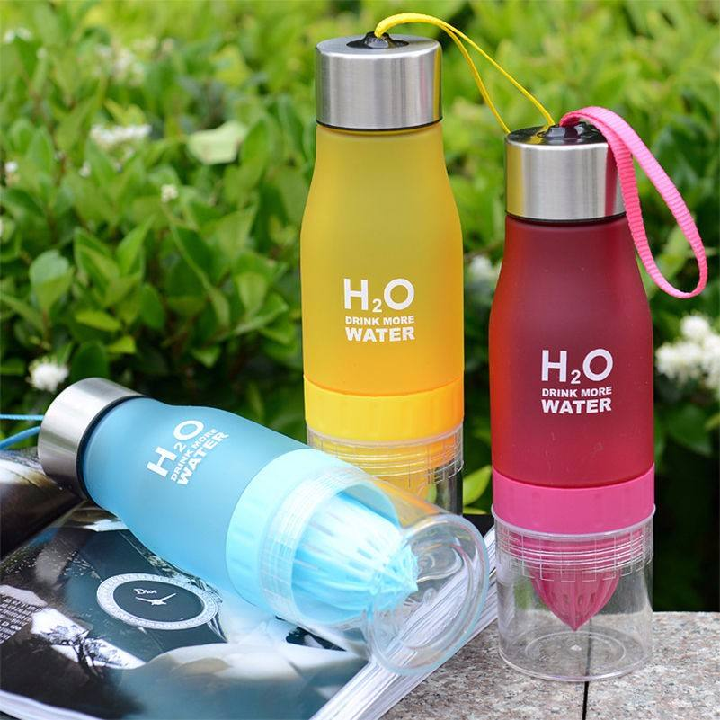 Hot sale plain shaker water bottles fruit fusion infuser water bottle