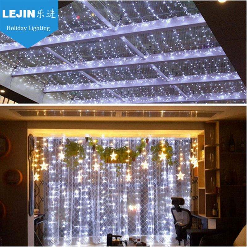 LED snowfall curtain lights snow rain light waterfall light