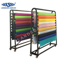 Customized floor standing metal display rack for textile fabric rolls