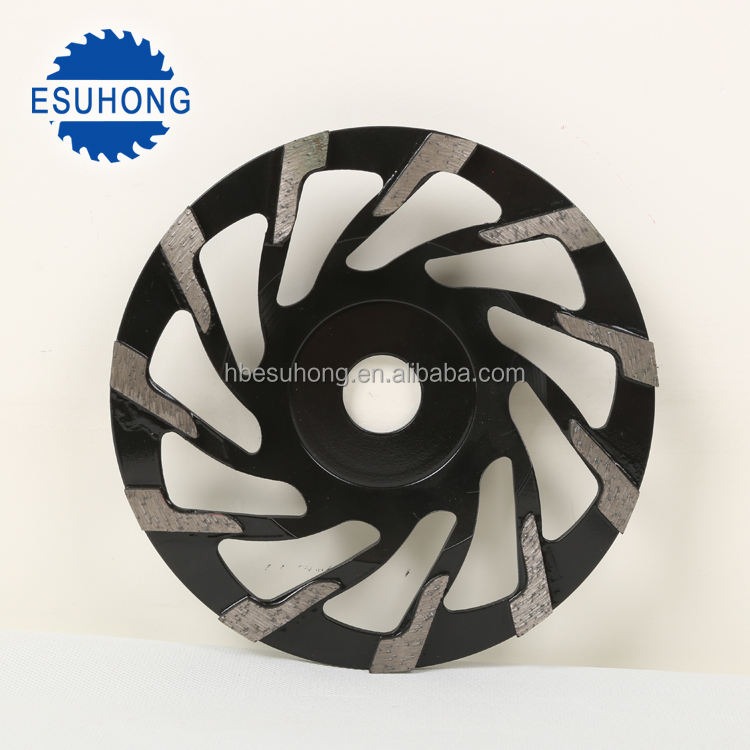 105mm High Frequency diamond cup wheel L Type Segment diamond grinding wheel
