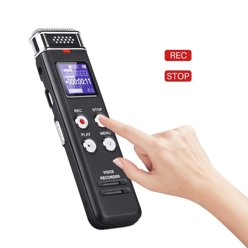 Amazon Best Seller Supplier Upgraded Digital Voice Recorder Voice Activated Recorder with Playback for Lectures