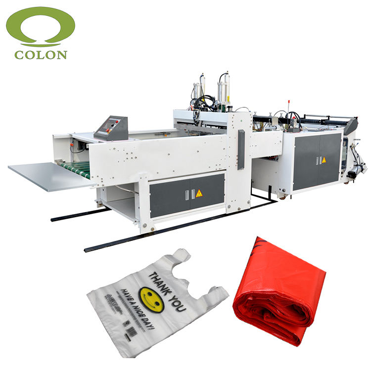 Full automatic low price plastic shopping bag making machine