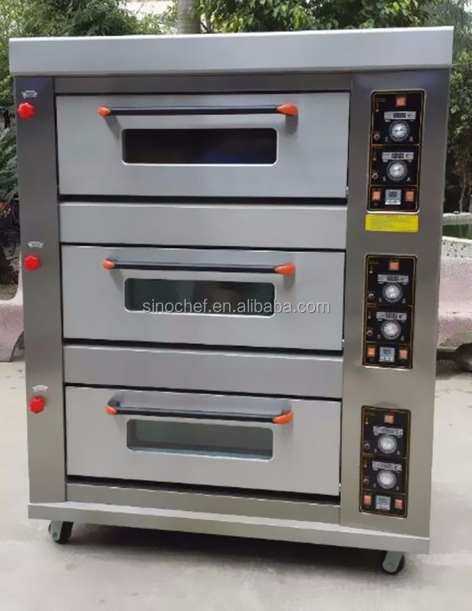 Bakery machine 3 deck gas baking oven price