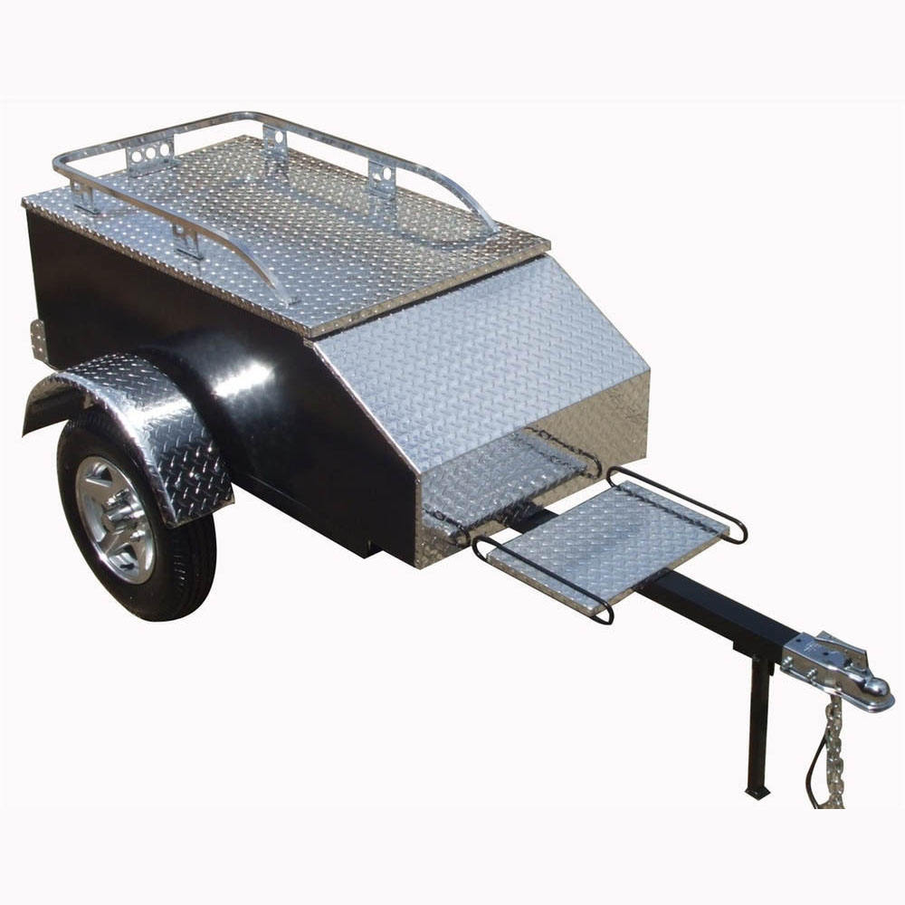 2018 Kindleplate Best New Cheap Small Folding Motorcycle Enclosed Cargo Box Trailer for Sale