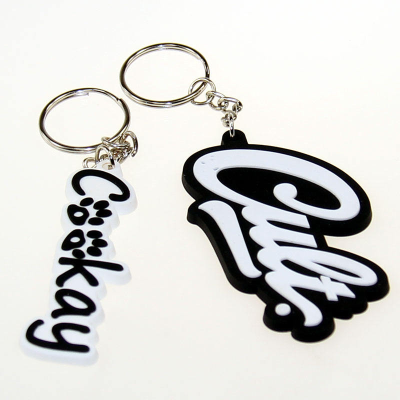 Custom design keychain soft 2D rubber PVC key chain