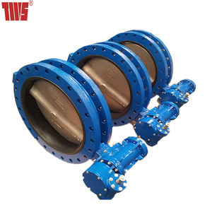 CF8 304 CF8M 316 gear wheel U section butterfly valve