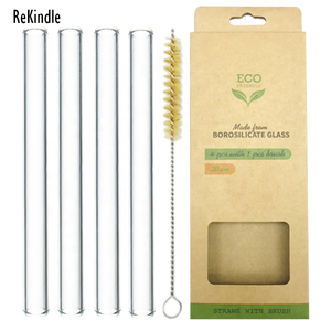Eco-Friendly product reusable glass straw 15mm drinking glass straw