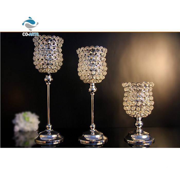 O projeto original casa decoração forma de copo de vinho de cristal vermelho casamento castiçal