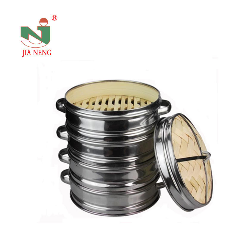 China stainless steel bamboo steamer basket, kitchen cooking steamers wholesale