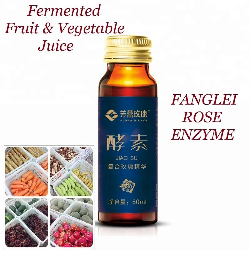 Fanglei Rose Enzyme Drink Fermented Fruit and Vegetable Enzymes 50ml