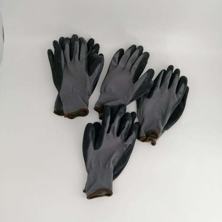Fingertips ABS plastic claw latex coated dig garden rigger gloves