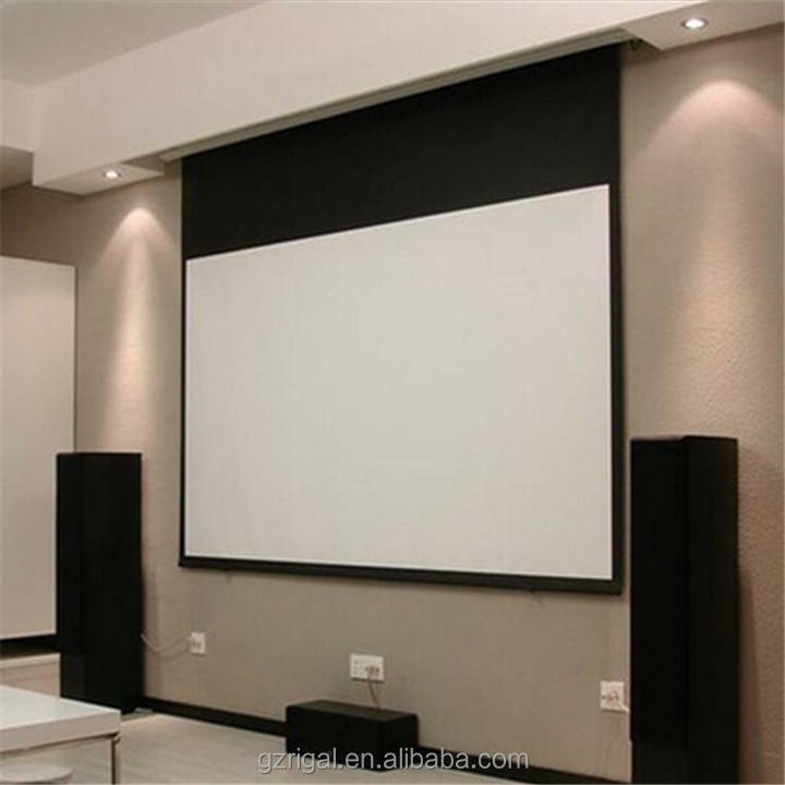 "150 "" electric projector screen 16:9 screen projection hd motorized projector screen"