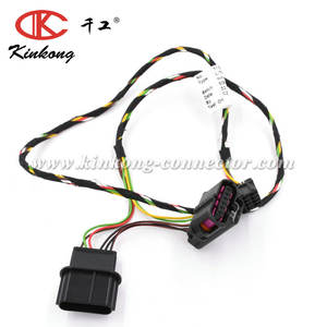 Kinkong Automotive Motor Engine Wire Harness Assembly With 6 Pin Male And Female Auto Connector