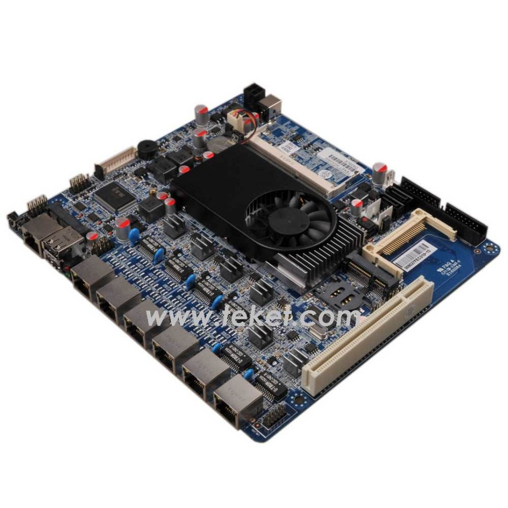 Firewall Motherboard D525LS,Mini itx Motherboard for 6 LAN 5 LAN,12V DC IN,Intel atom d525+GMA3150,for Gateway,180x220mm
