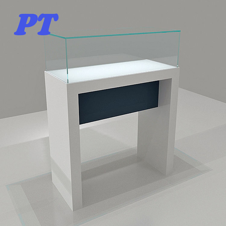 In China Gold Retail Led Counter Top Free Stand Corner Glass Jewelry Acrylic Jewellery Cabinet Display