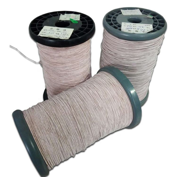 0.02 to 0.5mm High Frequency Magnet Stranded Silk Covered Litz Wire ETFE FEP PFA Extruded Twisted Copper Wire