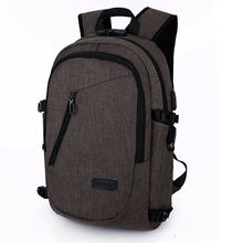 New smart stylish anti theft bag day backpack with usb headphone port