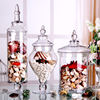 Wholesale European Exquisite Shape Large Wedding Glass Candy Jars With Lids