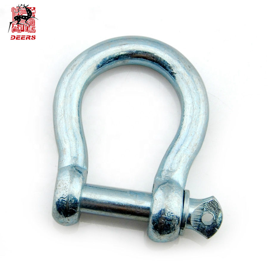US Type Drop Forged Screw Pin Bow Shackle Anchor Shackle G-209, S-209, G-2130, G-2140, G-2160