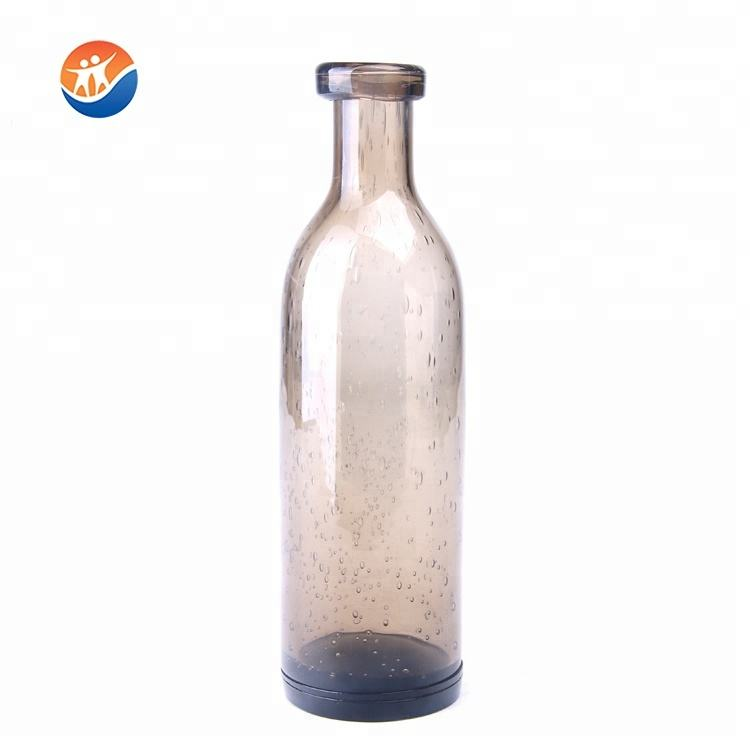 most popular handmade elegant colored bubble glass flower vase wholesale