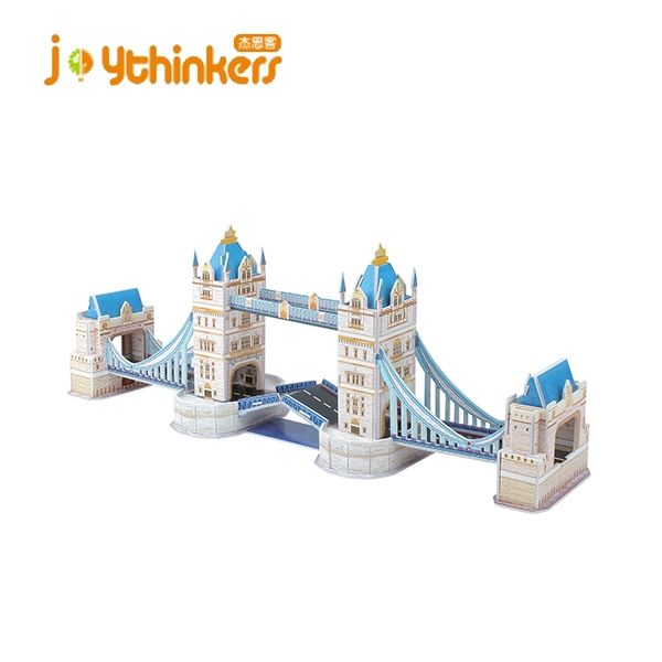 The London Tower Bridge World Great Architecture 3D Puzzles DIY Toys for Children and Adult Jigsaw Puzzle