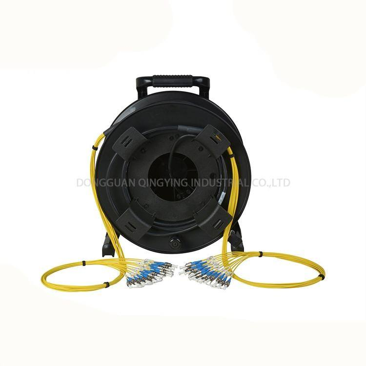 Outdoor field Fiber optic armoued cable length 50 meter with portable fiber optical cable reel
