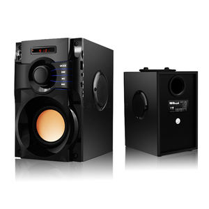 Tragbare Hifi Holz Powered Stereo Sub Woofer Heimkino Home Party Bluetooth Lautsprecher Mit Fm Radio Aux Usb