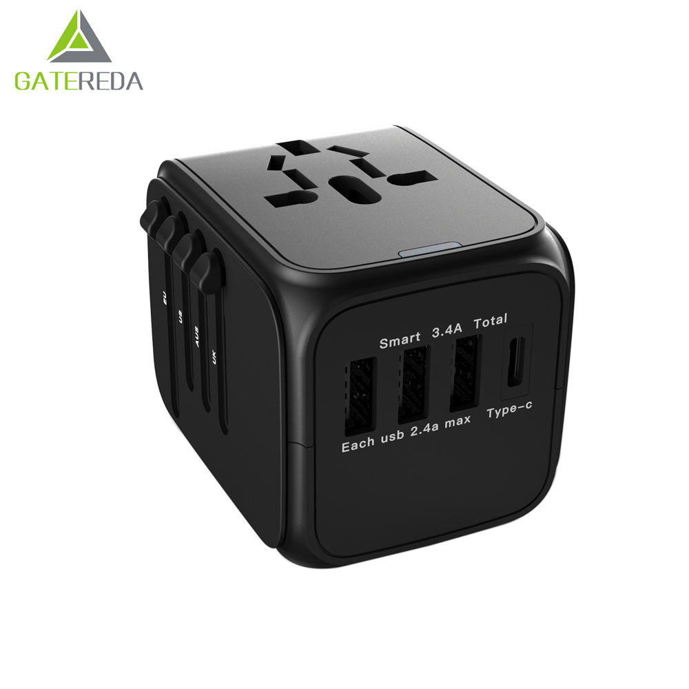 Portable AC DC phone charger usb power universal travel adapter