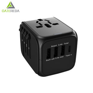 Portable AC DC Charger Ponsel USB Power Universal Travel Adapter