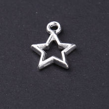 Wholesale jewelry silver hollow out simple stars shape necklace pendant