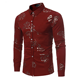 China Wholesale Latest floral Personality long Sleeve Cotton casual shirts for men