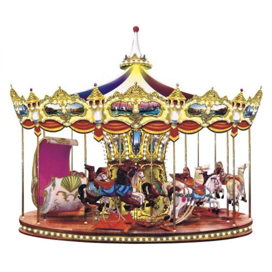 New Design Children Amusement Park Merry Go Round Carousel Horse 16/26/32 Seats For Sale