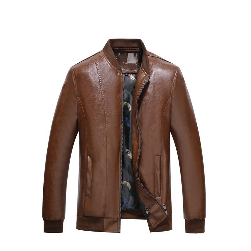 MAN'S BOMBER JACKET WITH BASEBALL COLLAR