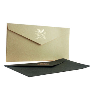 Custom Specail Paper Bag Letter Receipt Envelope with Gold Stamp