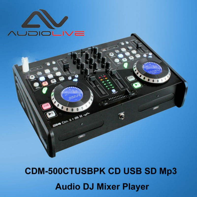 factory best selling high quality Pro Dual Twin CD MP3 USB DJ Media Player Console 2-Channel dj player mixer
