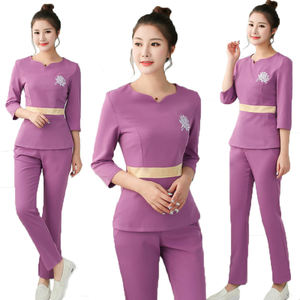 Salon Spa Beauty Center Staff Uniforms New style spa uniform for women spa uniform