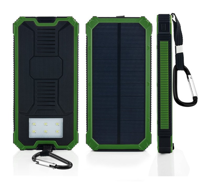 Hoge Kwaliteit Stofdicht Grote Capaciteit Ultradunne Ce Rohs Fcc Solar Power Bank