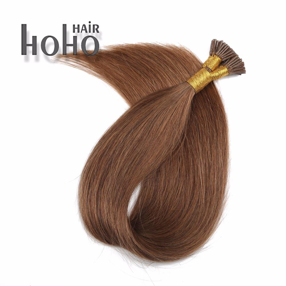 Italy keratin glue straight hair brown 24 inch 1.0g i tip hair