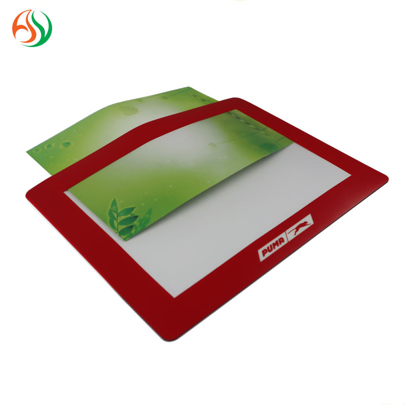 AY Rubber And PVC Photo Frame Counter Mat Window Display Desk Pad For Advertising Gift