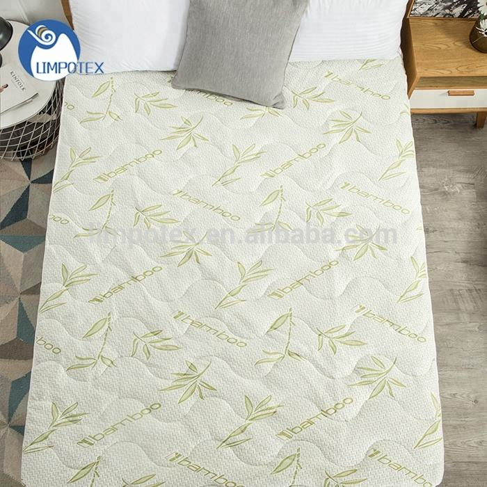 Wholesale summer cooling bamboo memory foam mattress pad for home