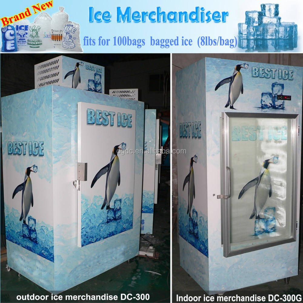Ice merchandiser of 100 bags ice capacity
