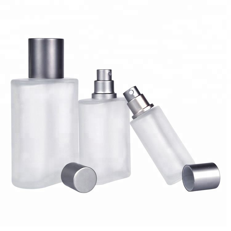 New refillable flat square perfume frosted glass spray bottle 30 ml 30ml 50ml 100ml