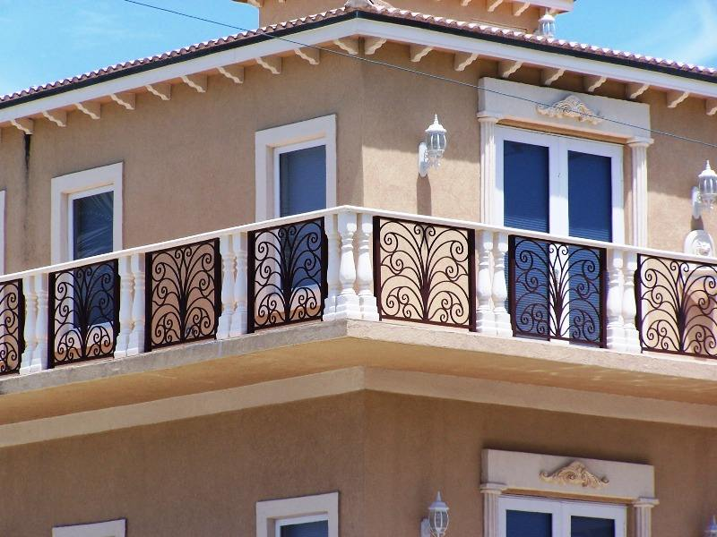 High Security Iron balcony railings designs/outdoor wrought iron balusters